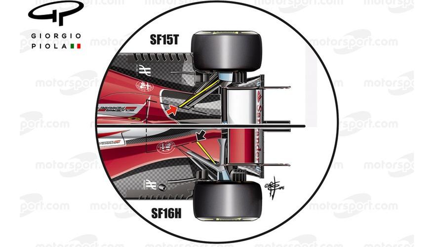 Ferrari SF15T an SF16H rear suspensions