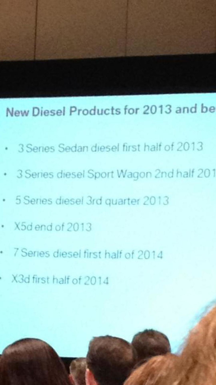 BMW North American diesel lineup leaked slide 05.11.2012