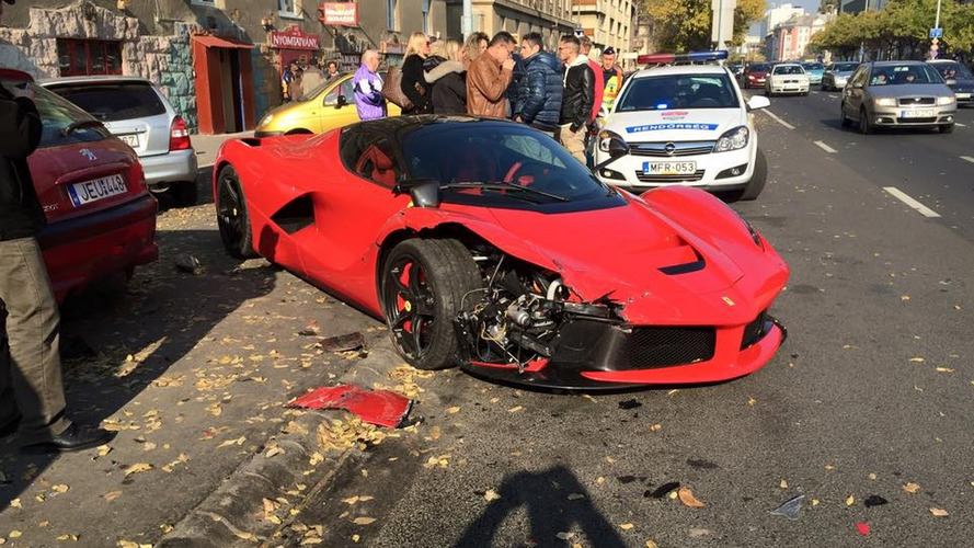 Footage emerges with LaFerrari crash in Budapest, driver's lack of skills to blame [video]