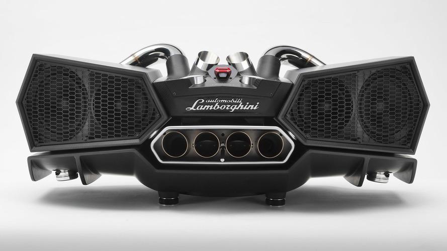 This $20K Lamborghini stereo speaker uses actual exhaust pipes