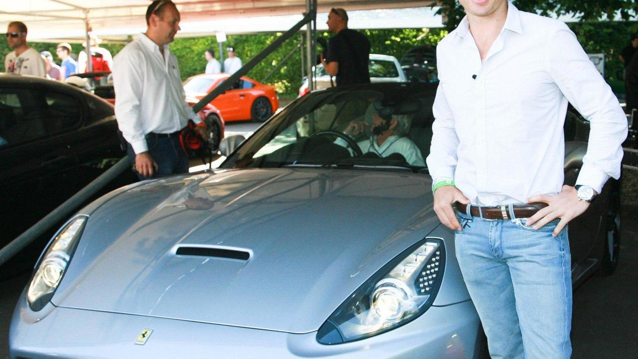 Rugby hero Matt Dawson with the Ferrari California, Goodwood Festical of Speed 2010, 05.07.2010