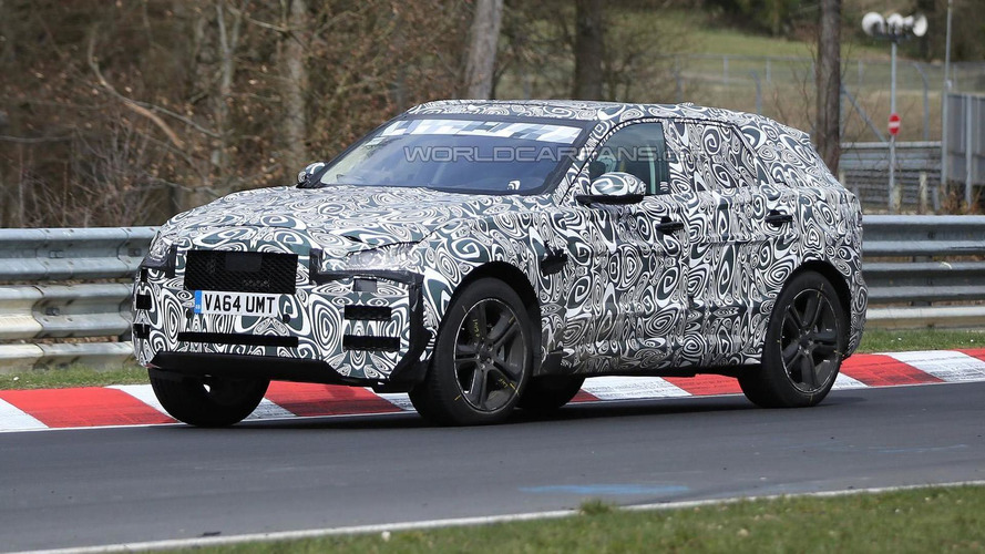 Jaguar F-Pace spied testing on the Nurburgring (19 pics)