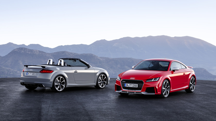 Audi TT RS Coupe and Roadster unveiled with 400 hp