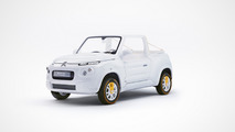 Citroen E-MEHARI concept restyled by Courreges
