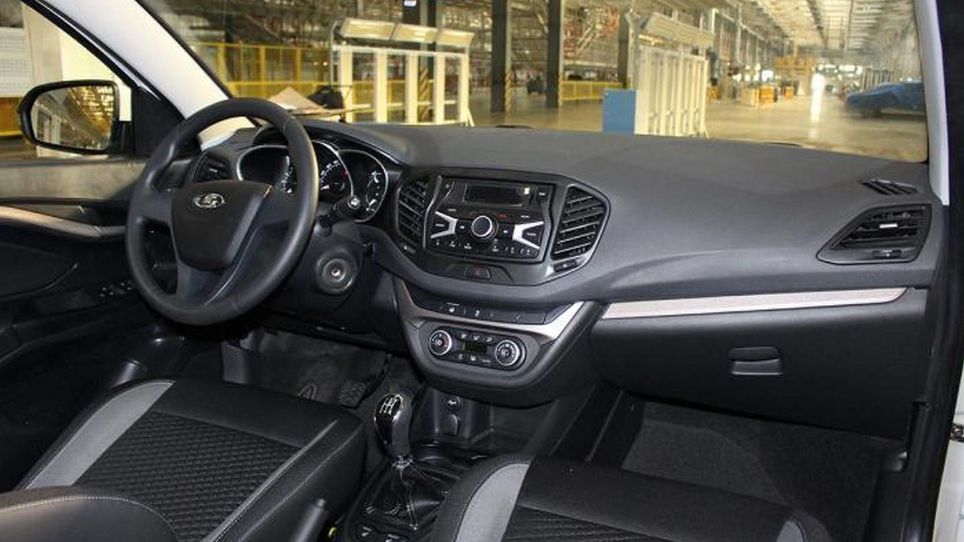Production Lada Vesta interior spied undisguised