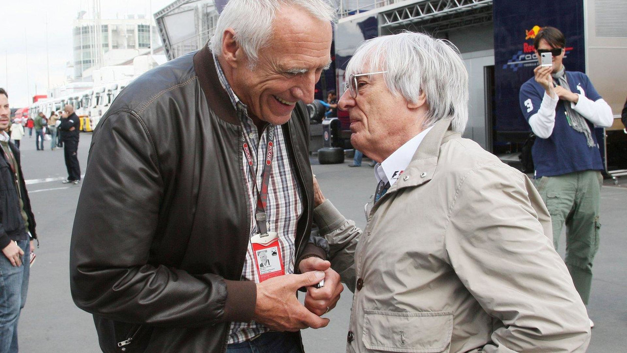 Dietrich Mateschitz with Bernie Ecclestone 11.07.2009 German Grand Prix
