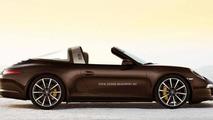 2014 Porsche 911 Targa rendered based on patent pics