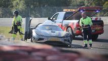 Koenigsegg Agera R development car crash on Nürburgring