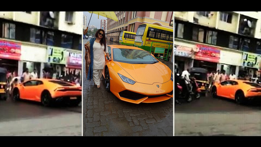 Indian politician gifts wife Lamborghini Huracan, promptly crashes into rickshaw