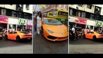 Video catches Indian politician's wife crashing Lamborghini Huracán