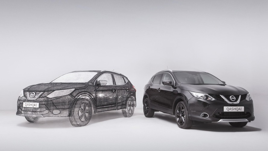Nissan Qashqai recreated as huge 3D pen sculpture