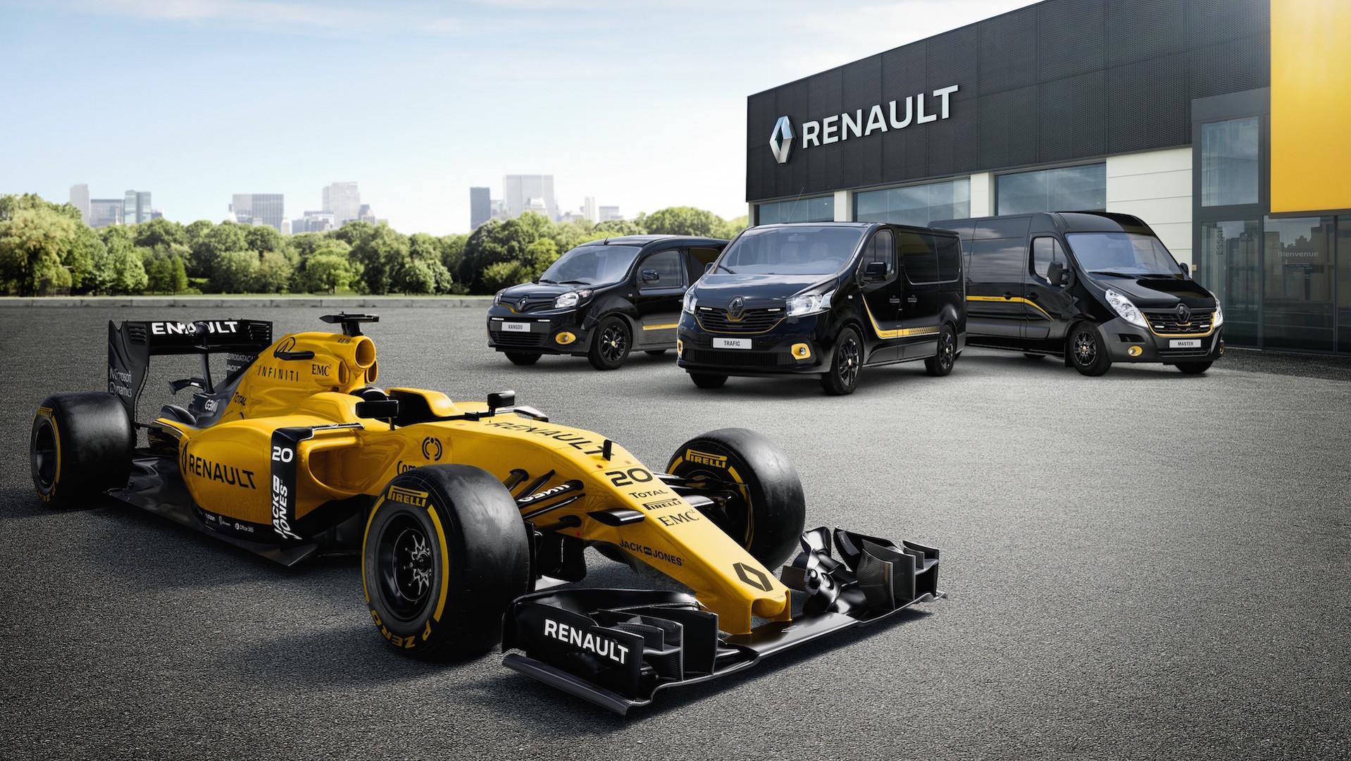 renault pro range gets formula 1 limited edition series. Black Bedroom Furniture Sets. Home Design Ideas