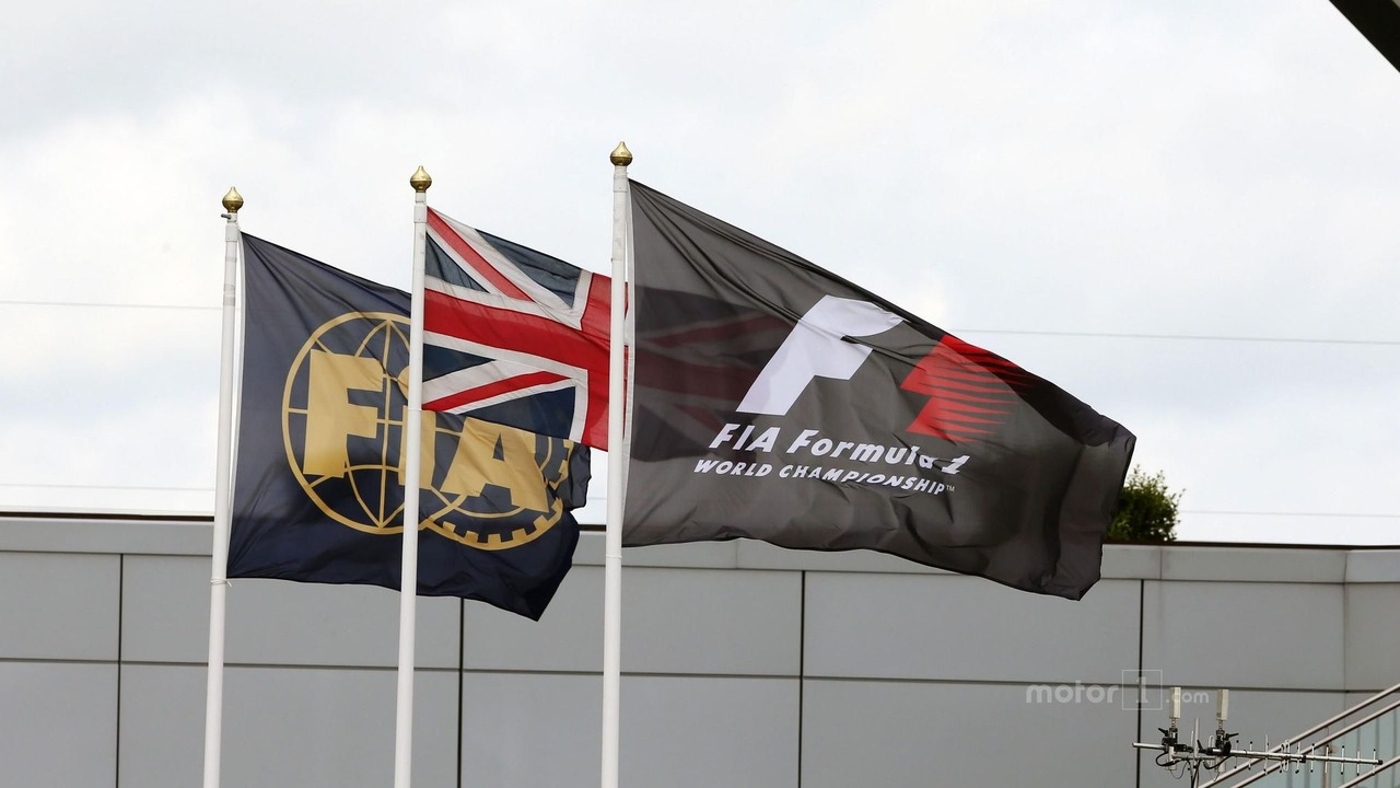 FIA, Union, and F1 flags