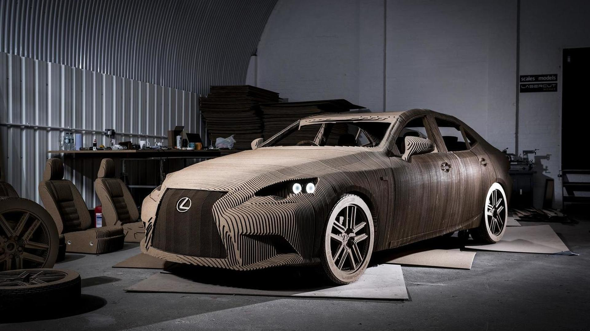 Lexus prepares drivable IS full-size origami replica with electric motor [videos]