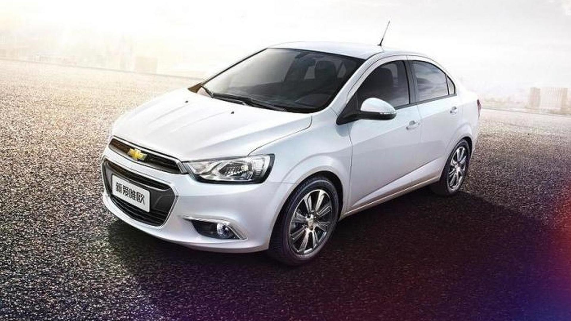 Chevrolet reveals facelifted Aveo in China