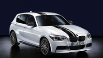 BMW 1 Series, BMW M Performance aerodynamic Kit, top stripes black, kidney grilles black 17.02.2012