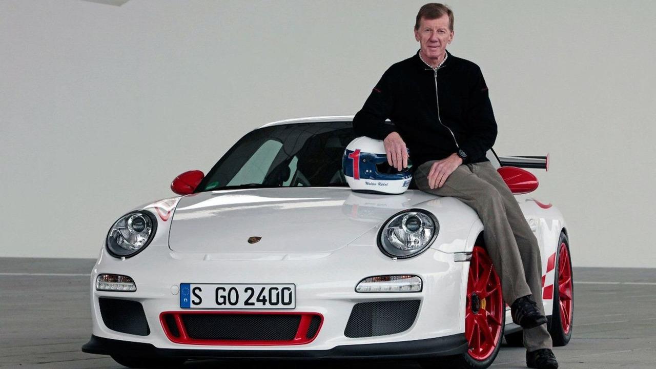 Walter Röhrl with Porsche GT3 RS - 17.12.2009