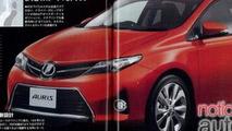 2013 Toyota Auris brochure leak - 29.5.2012