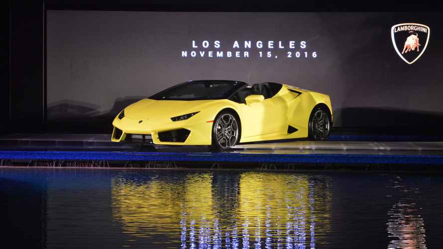 Lamborghini Huracan RWD Spyder drops its top with 580 hp