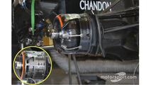 McLaren MP4-31 brake ducts detail