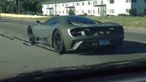 Sinister-looking 2017 Ford GT test mule spotted in Detroit [videos]