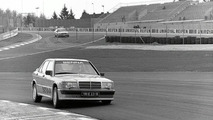Ayrton Senna in a Mercedes-Benz 190 E 2.3-16