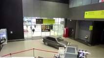 Drunken Russian drives through airport for love