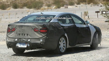 Kia VG Luxury Sedan Spied in Desert