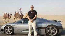 Koenigsegg CCX Supercar Speeds into the Gulf