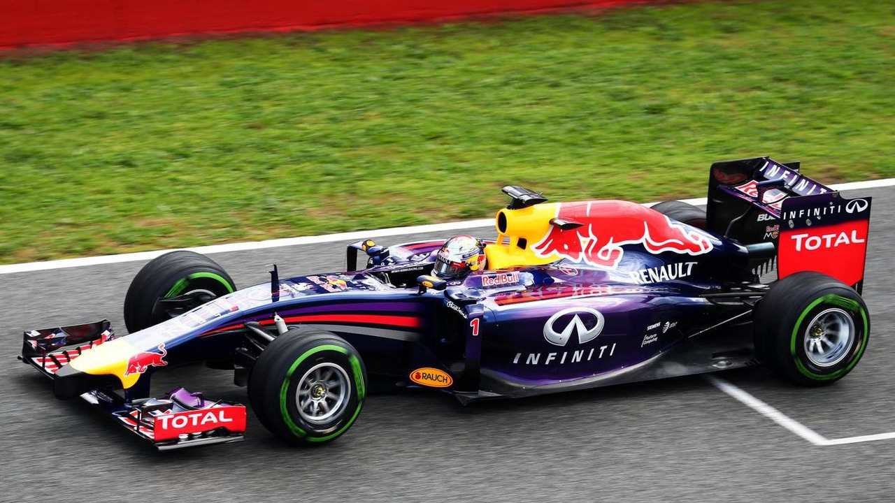 Sebastian Vettel Red Bull Racing RB10 29.01.2014 Formula One Testing Jerez Spain