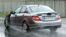 Mercedes C63 AMG spy photo
