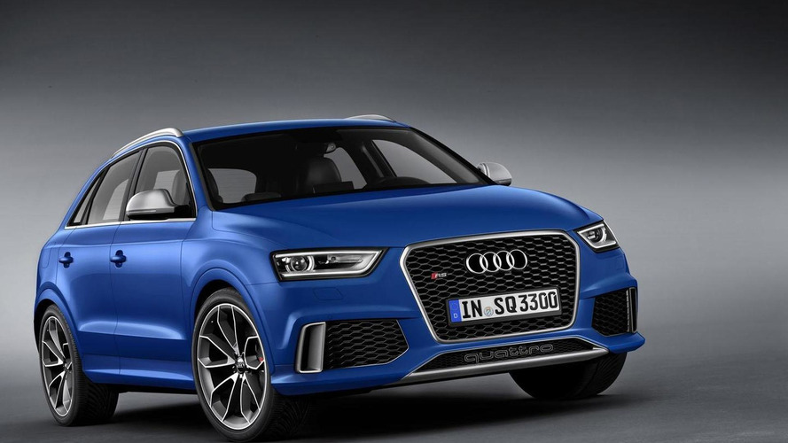 2014 Audi RS Q3 plays in the snow [video]