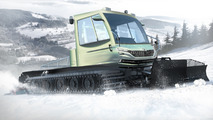 Skoda branches out with hybrid snow groomer, dog umbrella