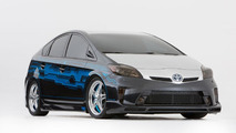 Custom Clint Bowyer Toyota Prius prepared for SEMA