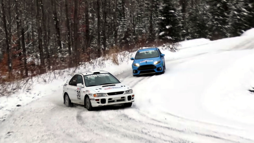 Can a stock Ford Focus RS keep up with a Subaru rally car?