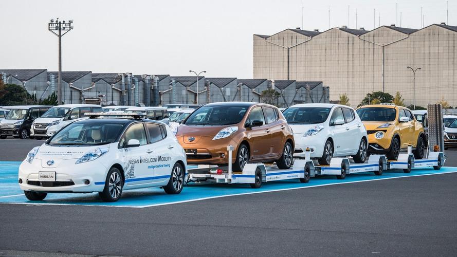 Nissan Leaf becomes autonomous tow vehicle