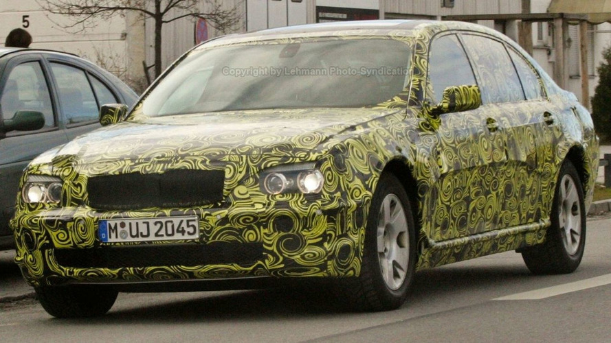 2009 BMW 7 Series Spied with Psychedelic Camouflage