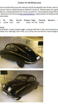 Saab Museum classics headed for auction