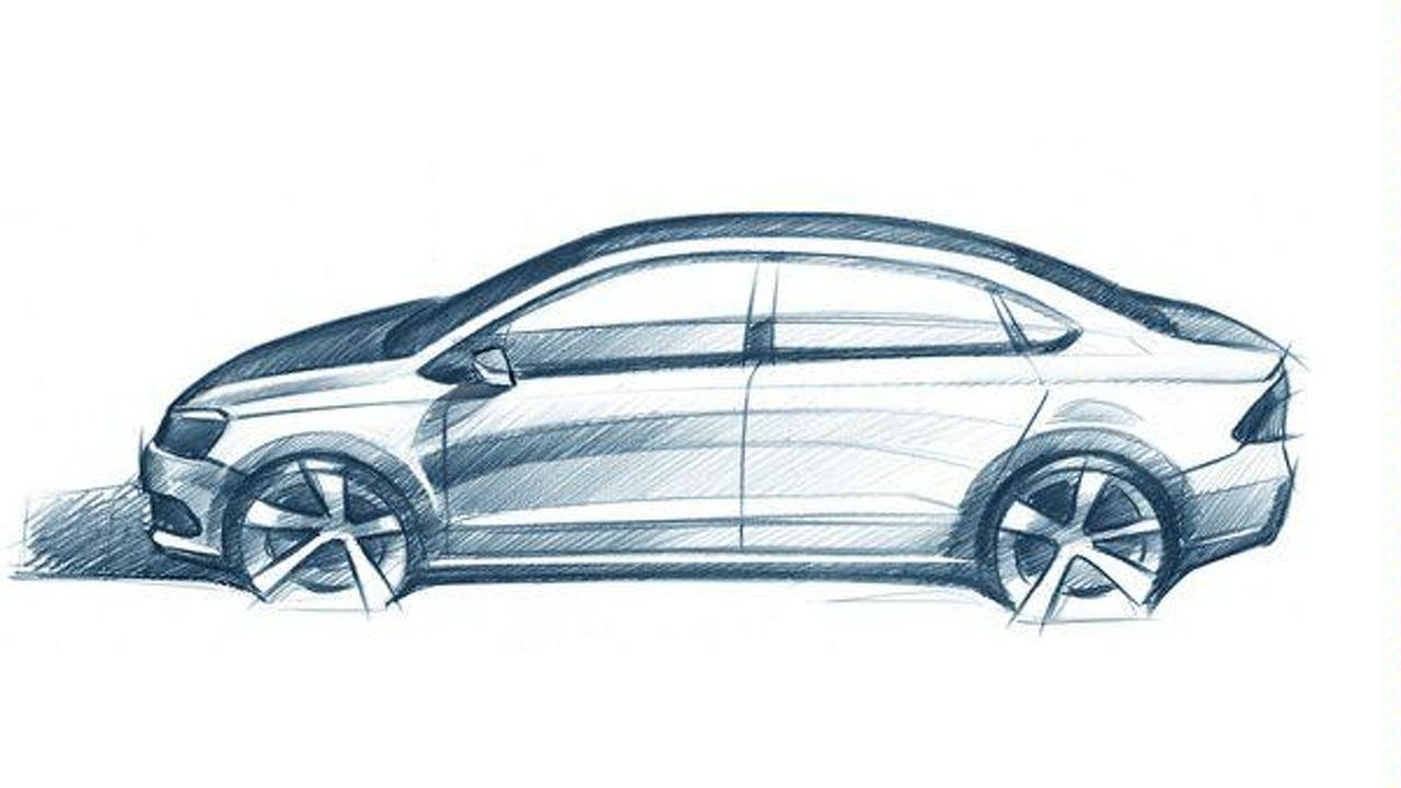 2012 Volkswagen Polo V sedan leaked design sketch - 600 - 01.04.2010