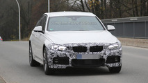 BMW 3-Series Sedan and Touring facelift spied showing LED headlights