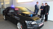 Skoda Octavia vRS police car in Belgium gets automatic number plate recognition system