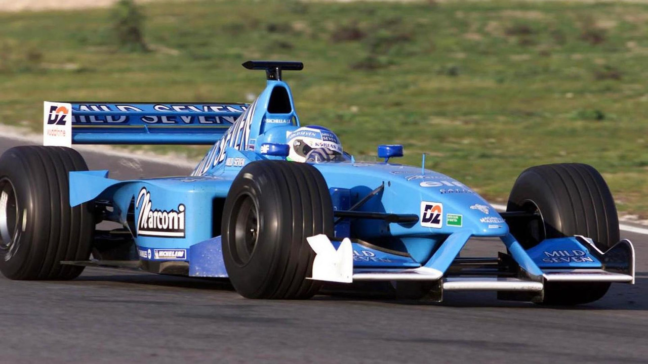 Giancarlo Fisichella testing the Benetton B201 in Estoril Portugal 11.02.2001