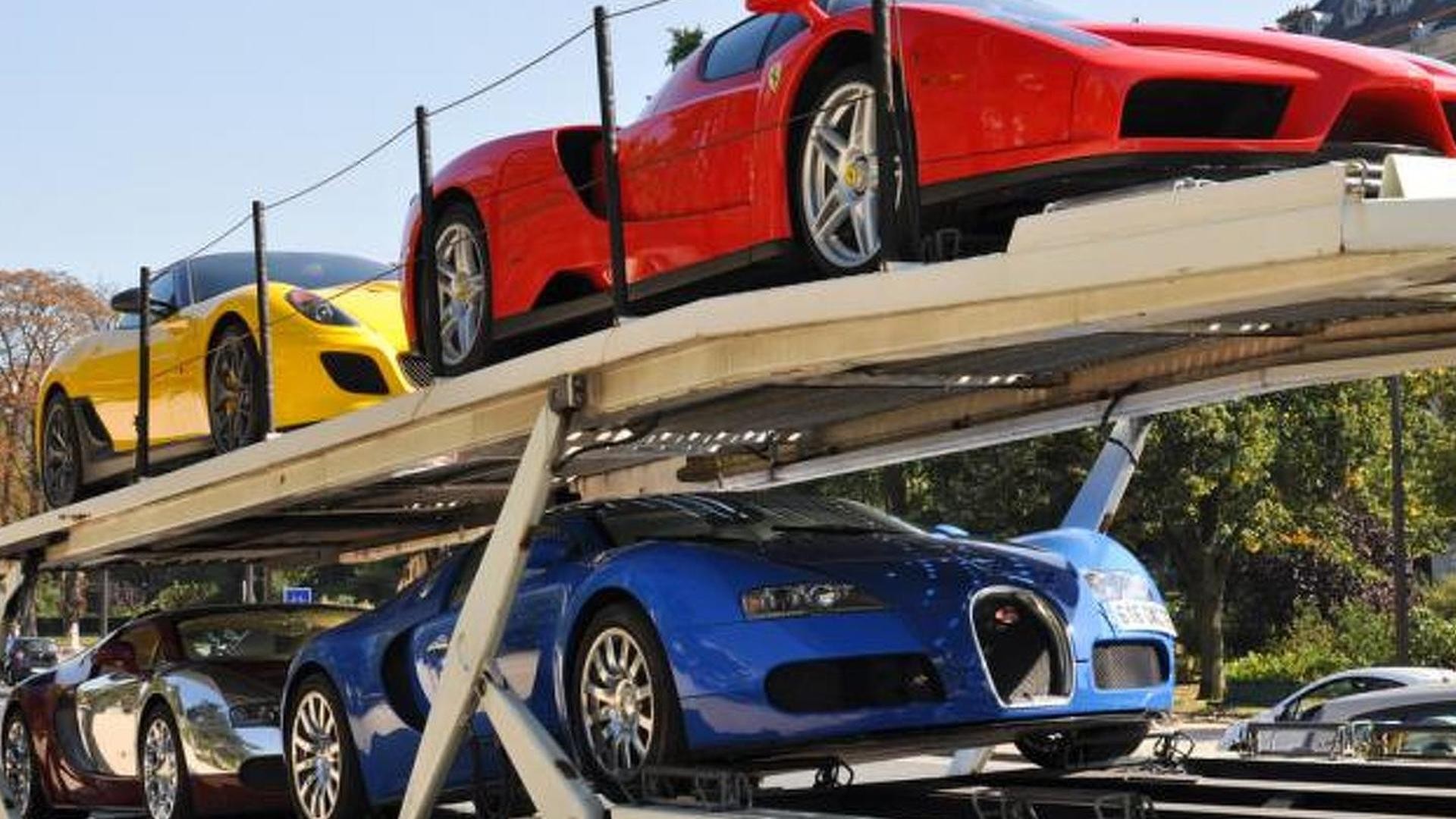 11 supercars sold for only 3.1M EUR, including two Veyrons, an Enzo and a Carrera GT