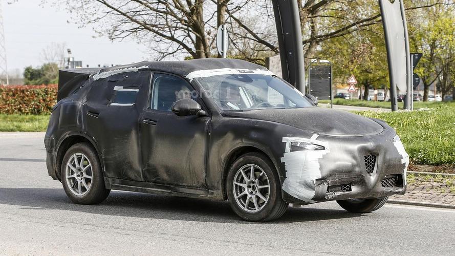 2017 Alfa Romeo Stelvio spied wearing a production body