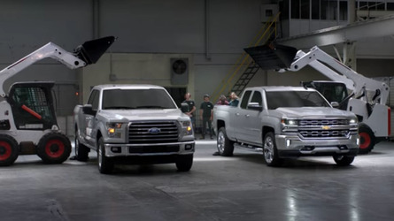 Chevy punishes truck beds to prove the superiority of steel