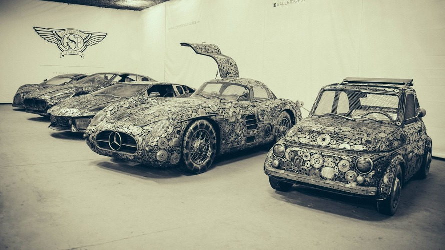 These supercars sculpted from scrap metal are incredible