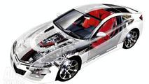 All new Honda NSX technical illustration