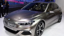 How does the BMW Compact Sedan Concept look in the metal?