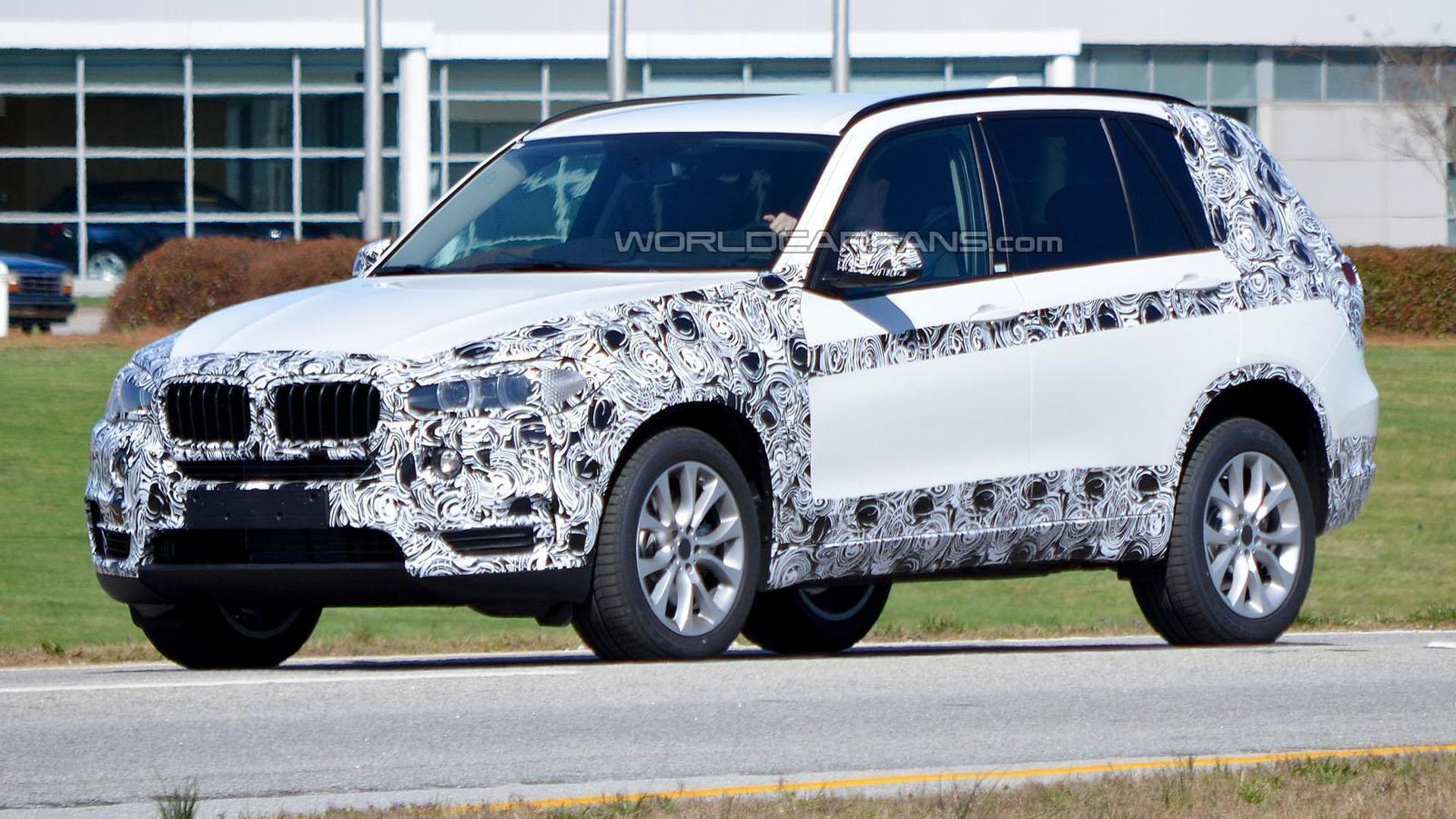 2014 BMW X5 spied with less disguise