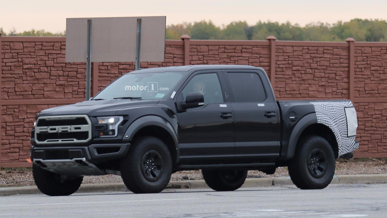Ford F 150 Raptor Spied With Intriguing Camouflaged Rear